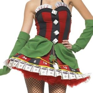 Leg Avenue Lady Luck Poker Halloween Costume